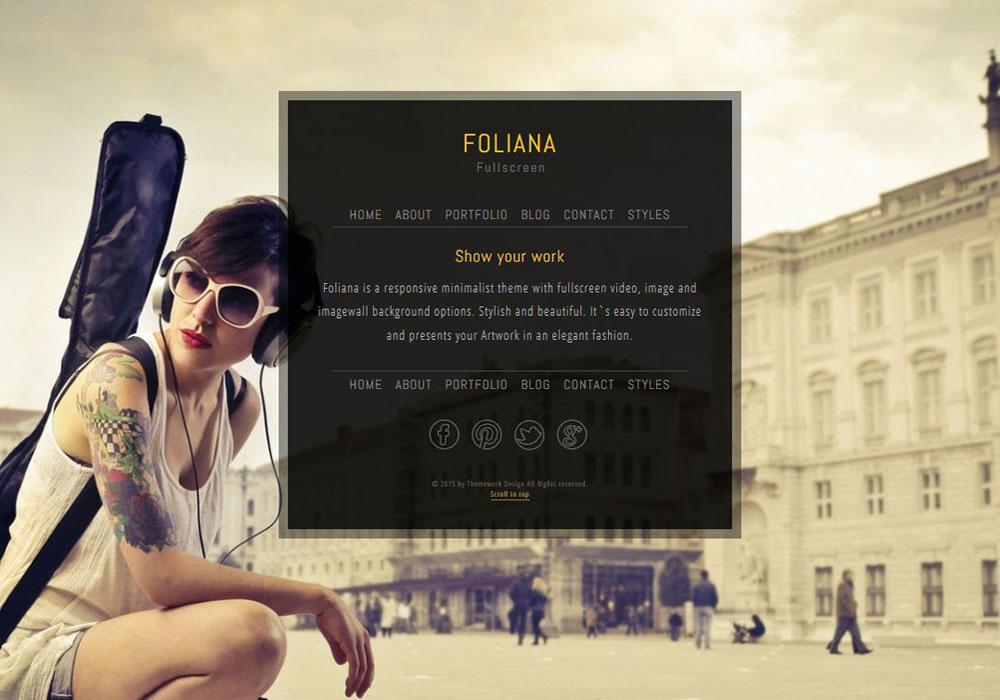 Foliana - One Page Wordpress Theme