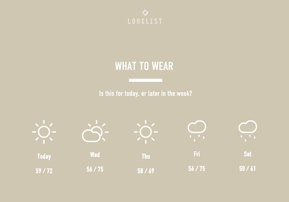 What  To Wear / Looklist