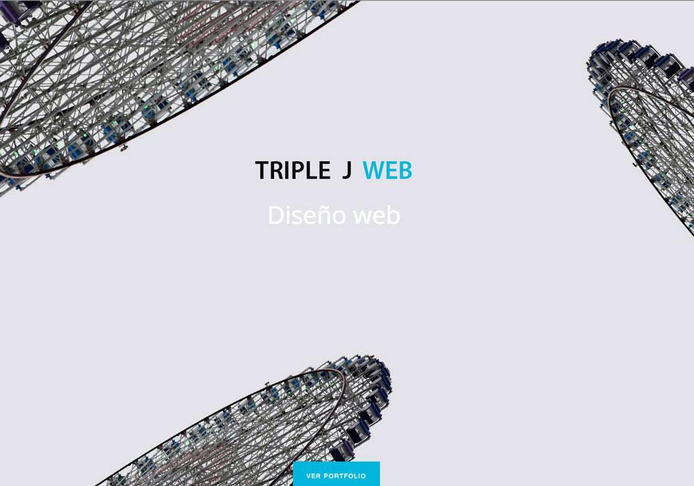 Triple j web · Agencia diseño web