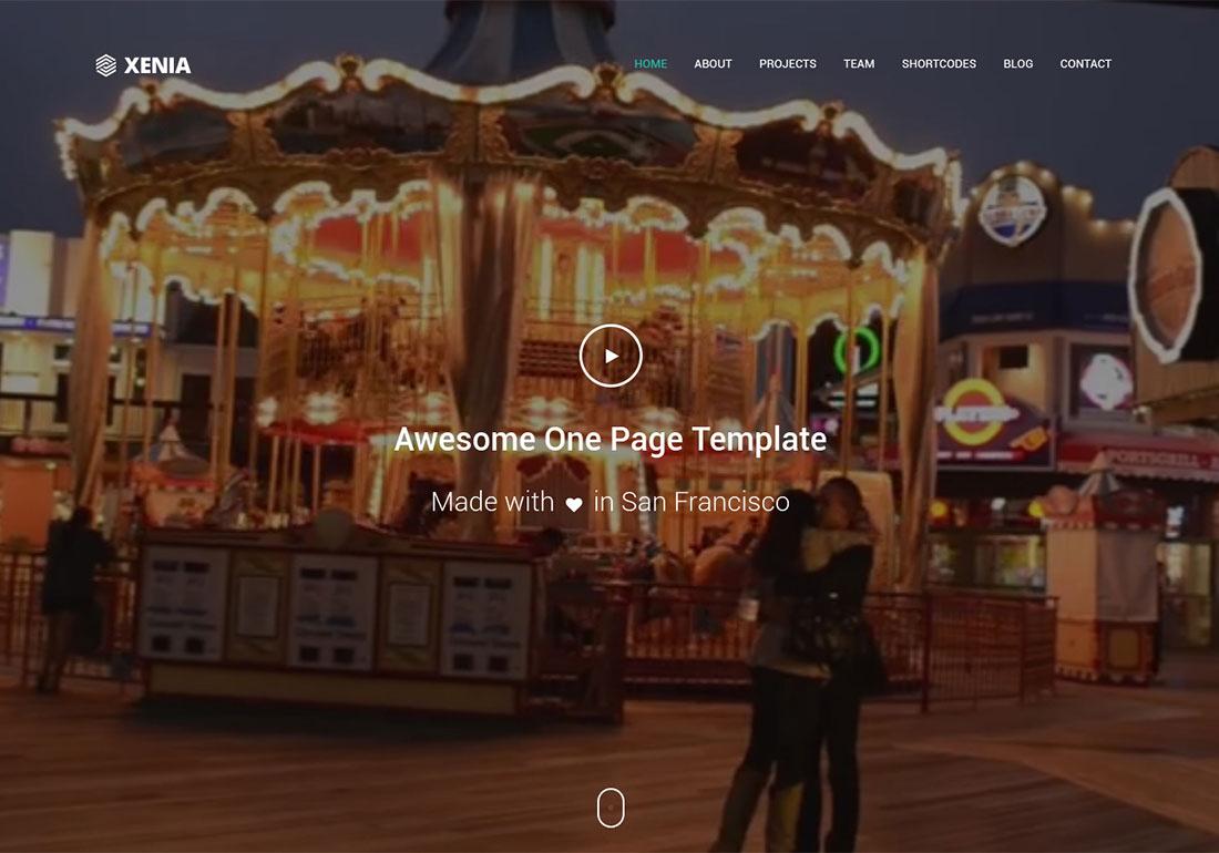 Xenia One Page Parallax Theme