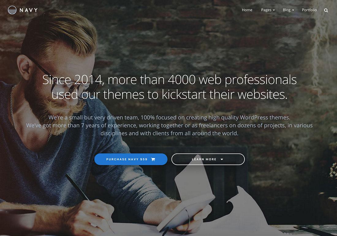 Navy Business WordPress Theme