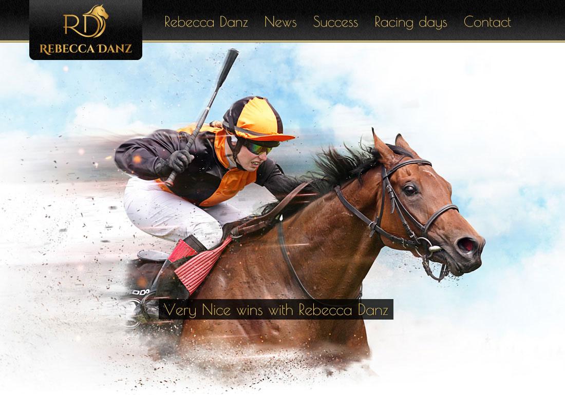 German Lady Jockey Rebecca Danz