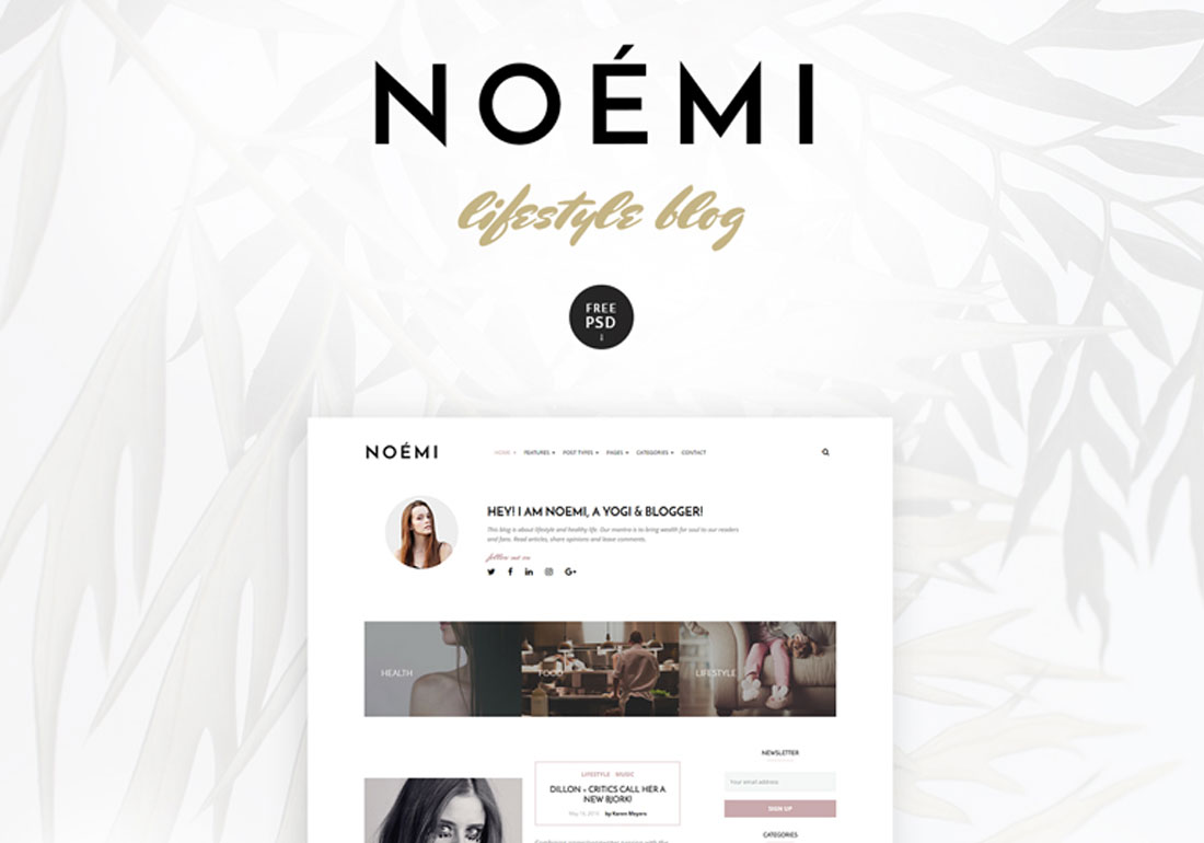 Noemi - WordPress Blog Theme