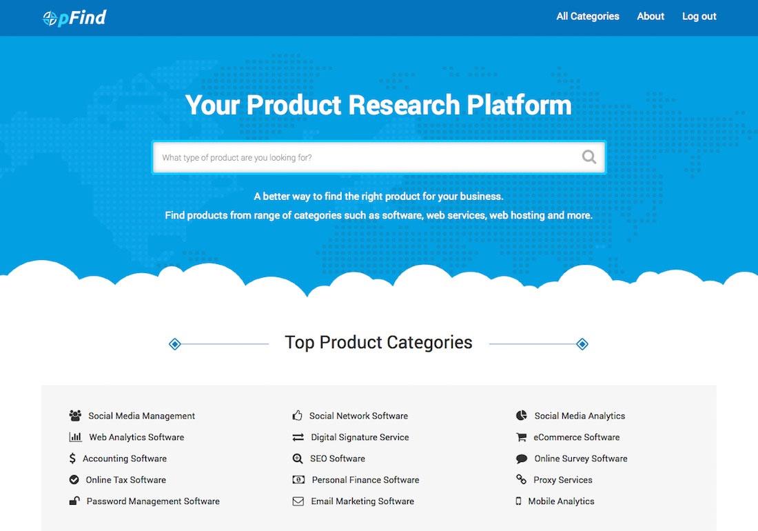 pFind - Product Research Platform