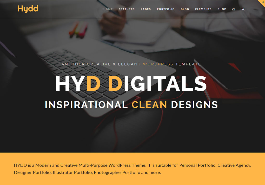 Hydd - Creative Wordpress Theme