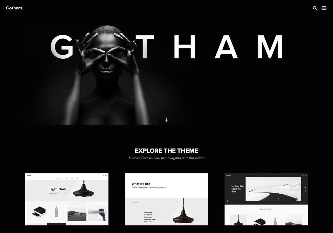 Gotham - Creative WordPress Theme