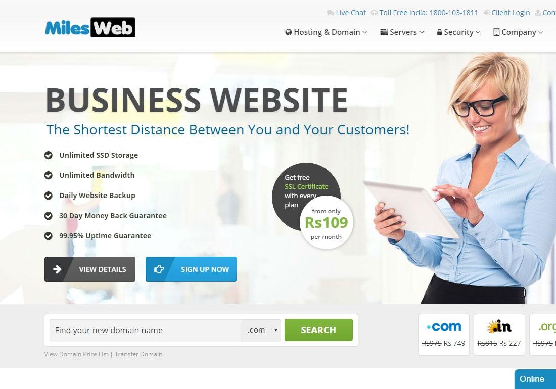 MilesWeb :Best Web Hosting Company