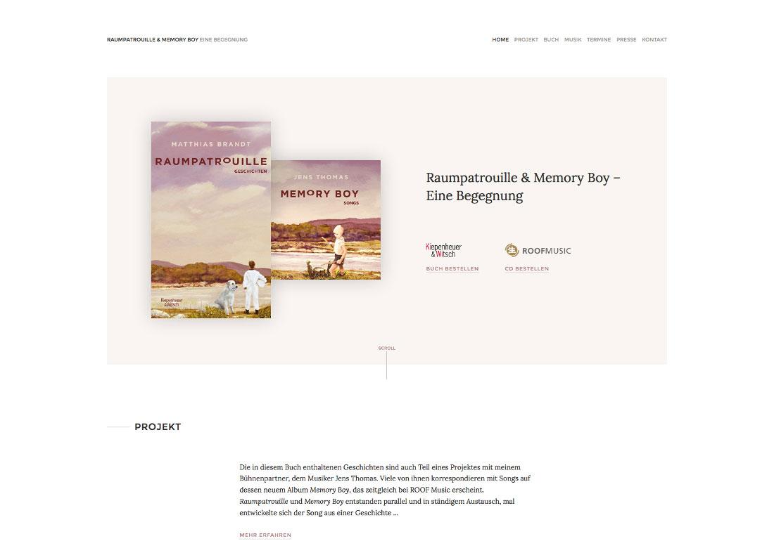 Raumpatrouille & Memory Boy