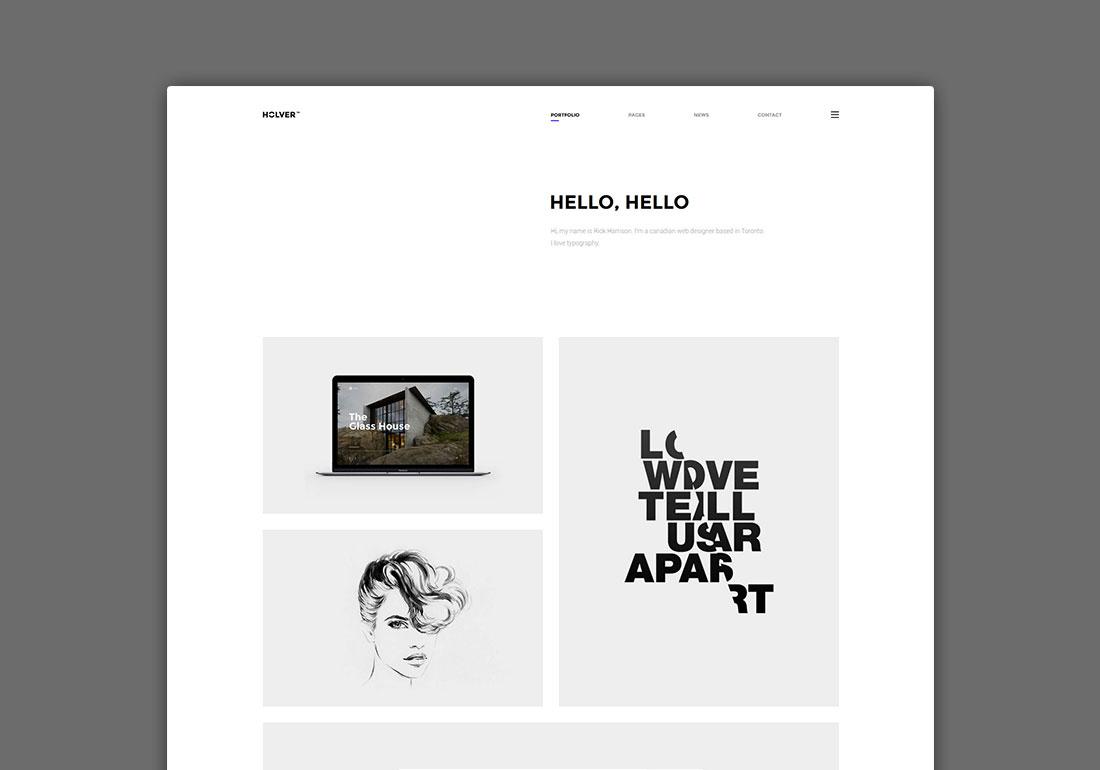 Holver - Minimal Portfolio WordPress Theme