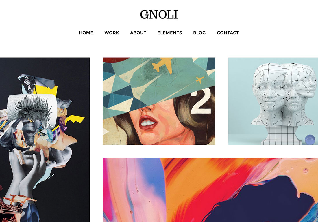 Gnoli Portfolio WordPress Theme