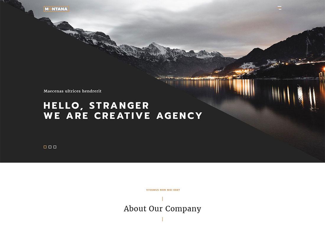 Montana Premium OnePage Theme