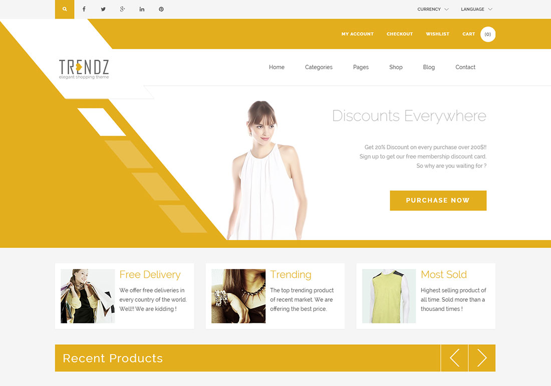 Trendz - WooCommerce Shopping WordP