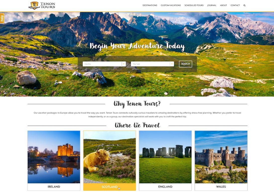 Tenon Tours Website