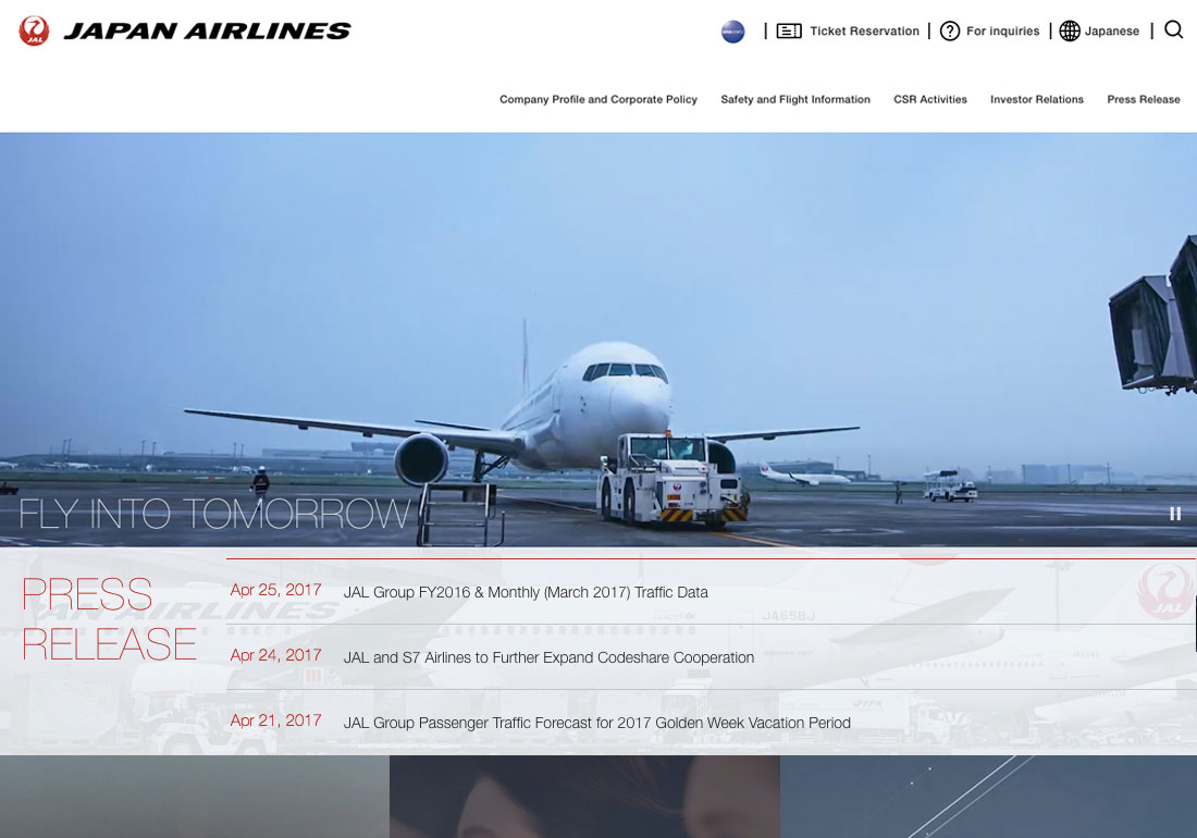 JAPAN AIRLINES CO., LTD. CORPORATE