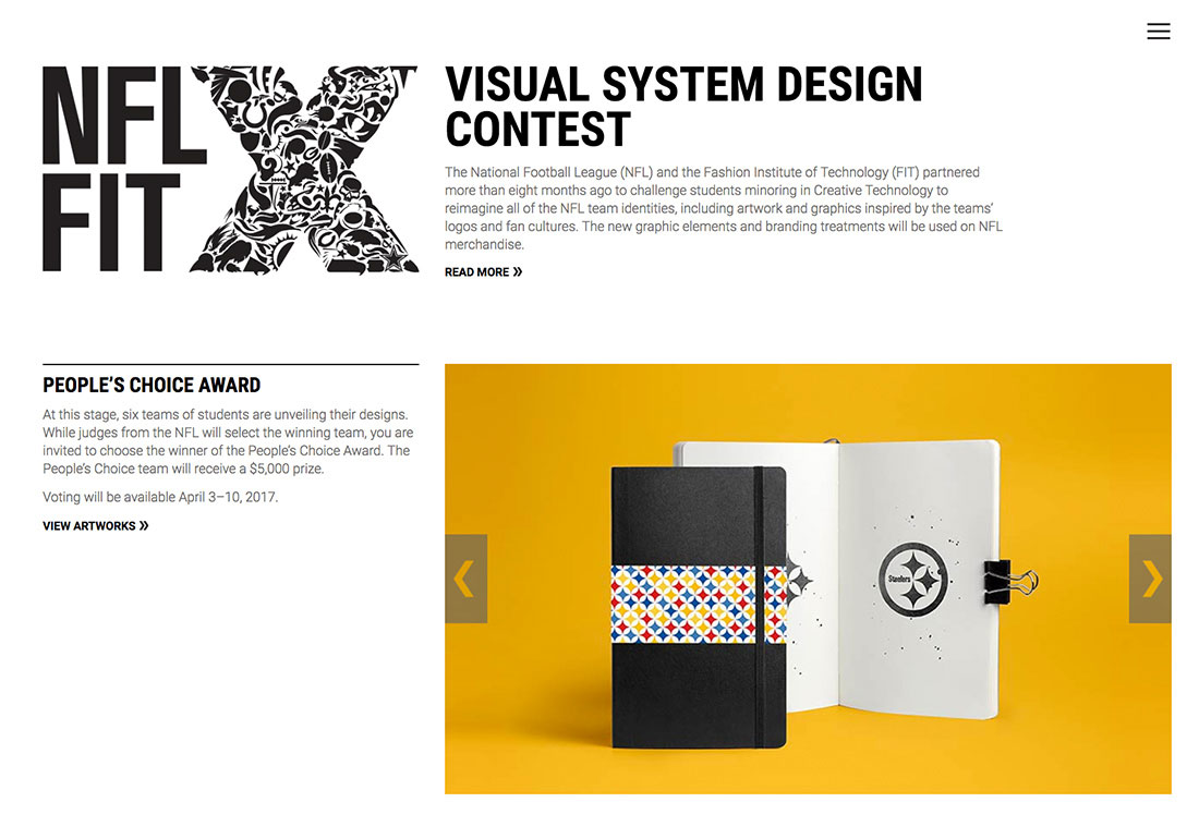 NFLxFIT Visual System Design Contes