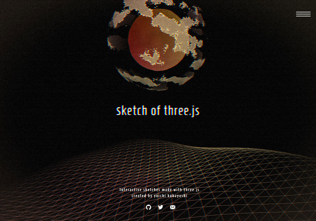 sketch of three.js