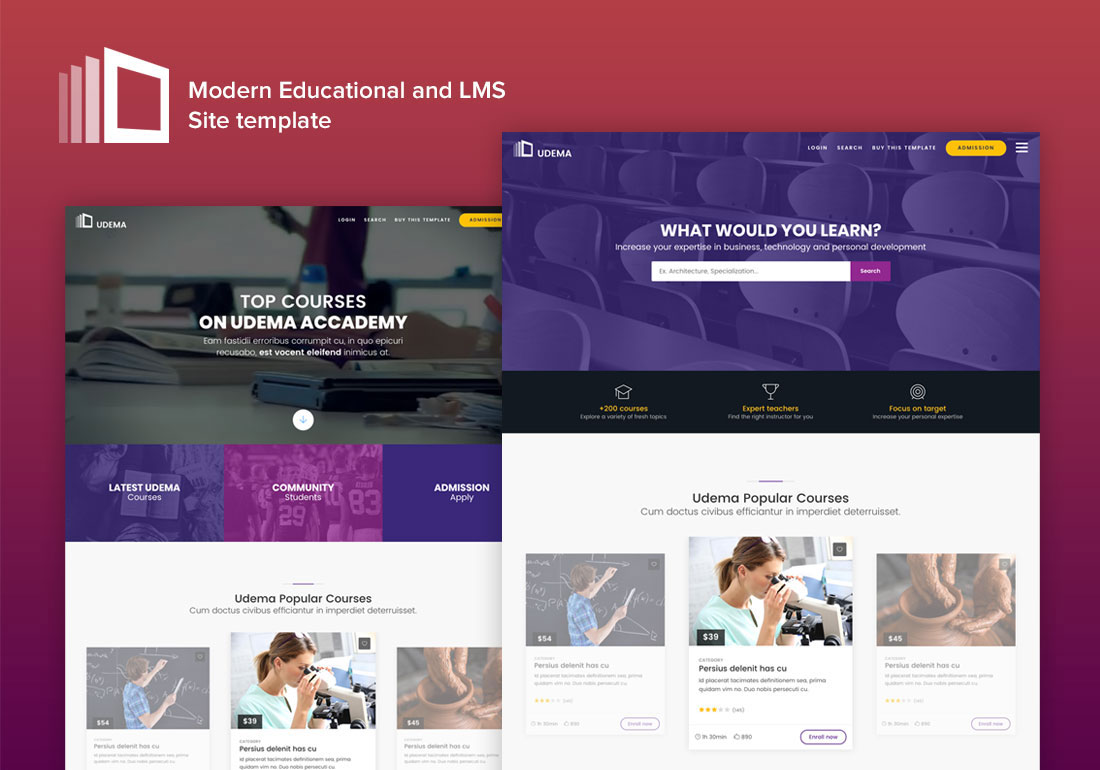 UDEMA - Modern Educational Site Template