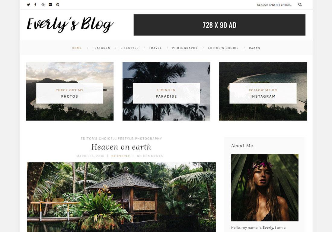 Everly - A Classy WordPress Blog
