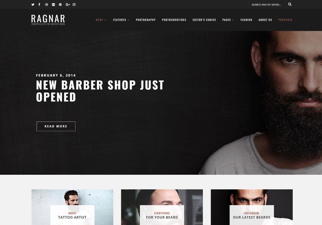 Ragnar – A Bold WordPress Blog Theme