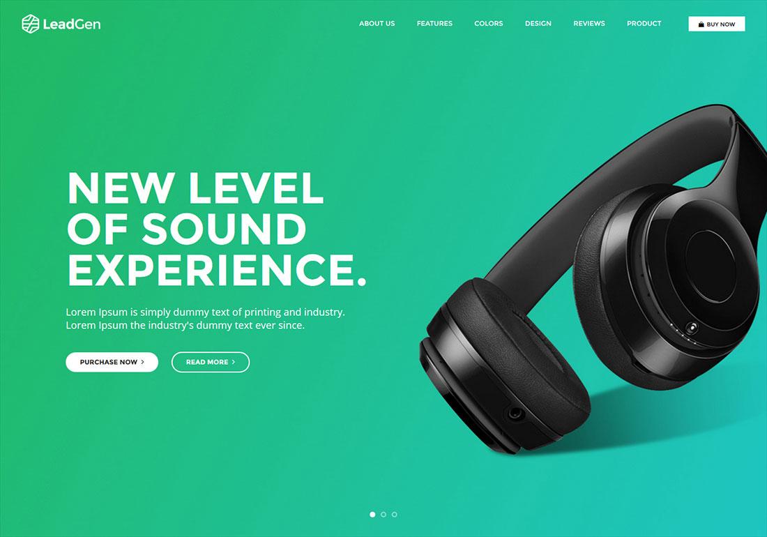 LeadGen Marketing Landing Page