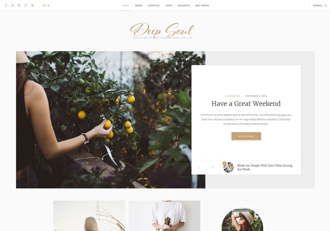 Deep Soul - Premium WordPress Theme