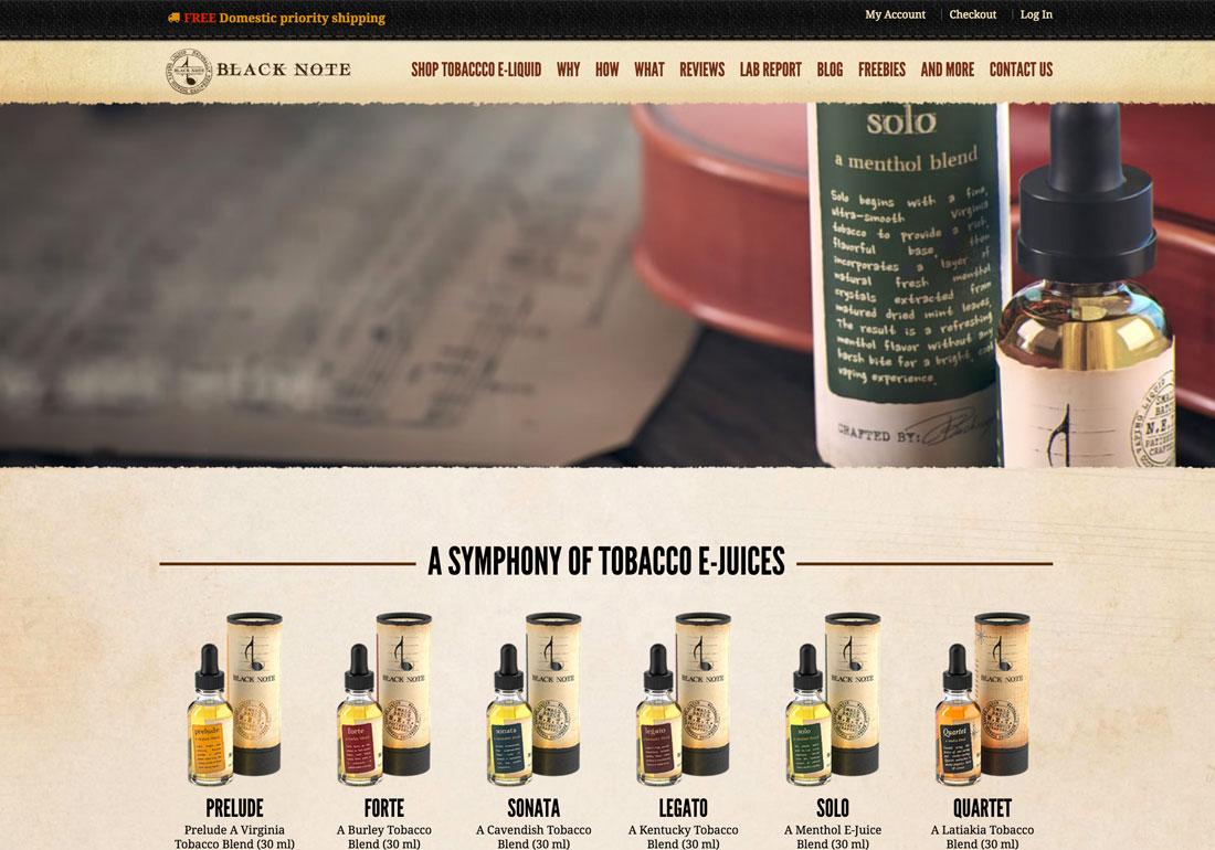 Black note Tobacco E-liquid