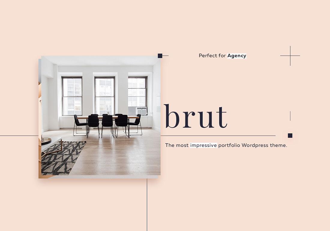 Brut - Wordpress portfolio theme