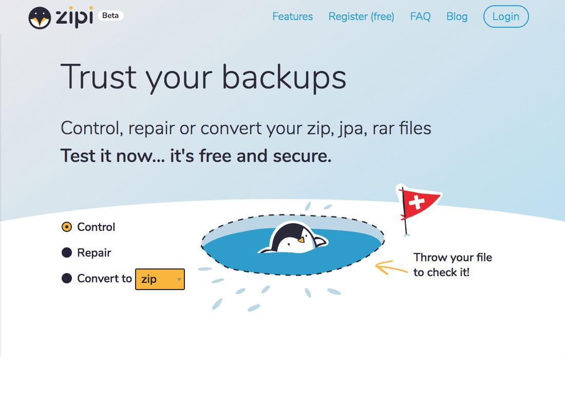 Zipi Tools, trust your backups