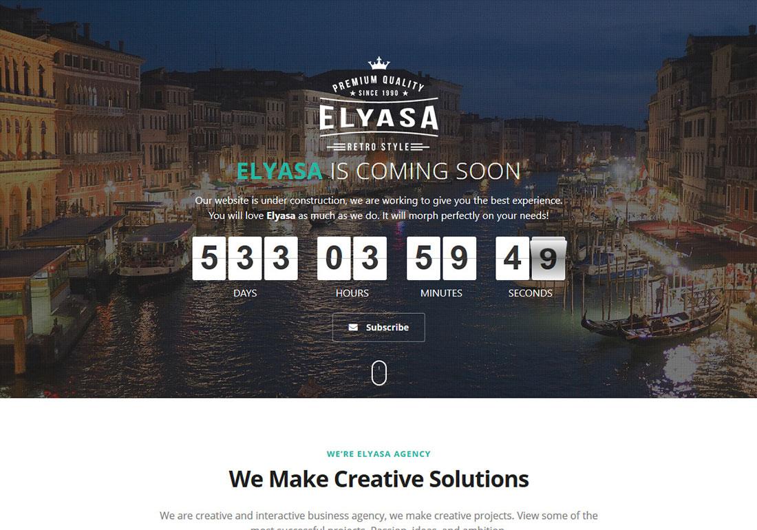 Elyasa - Coming Soon WP Plugin