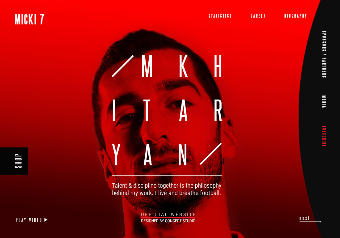 Henrikh Mkhitaryan Official Website