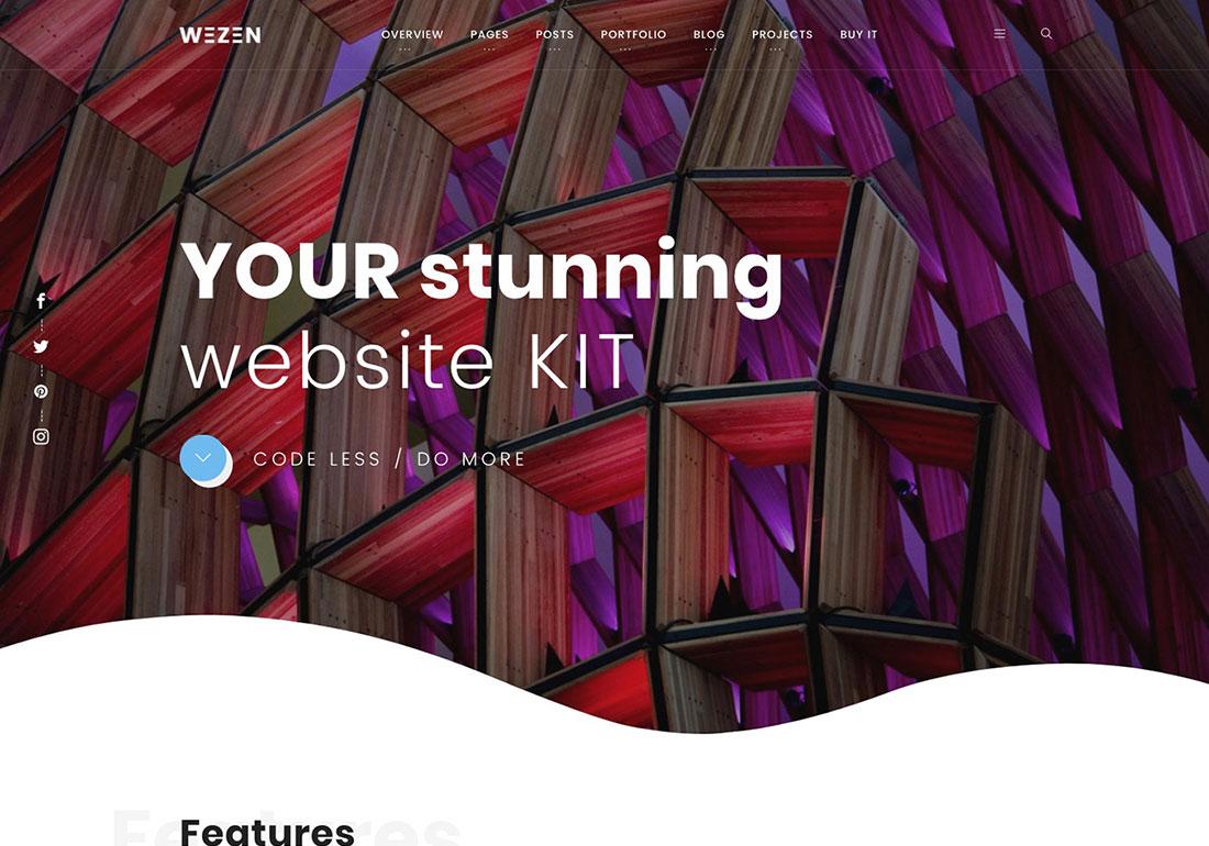 Wezen - Creative Portfolio WordPress