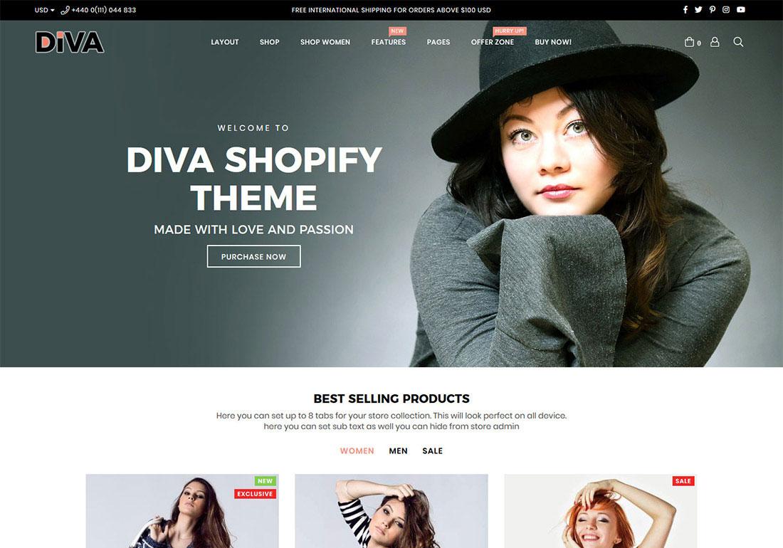 Diva Multipurpose Shopify Theme