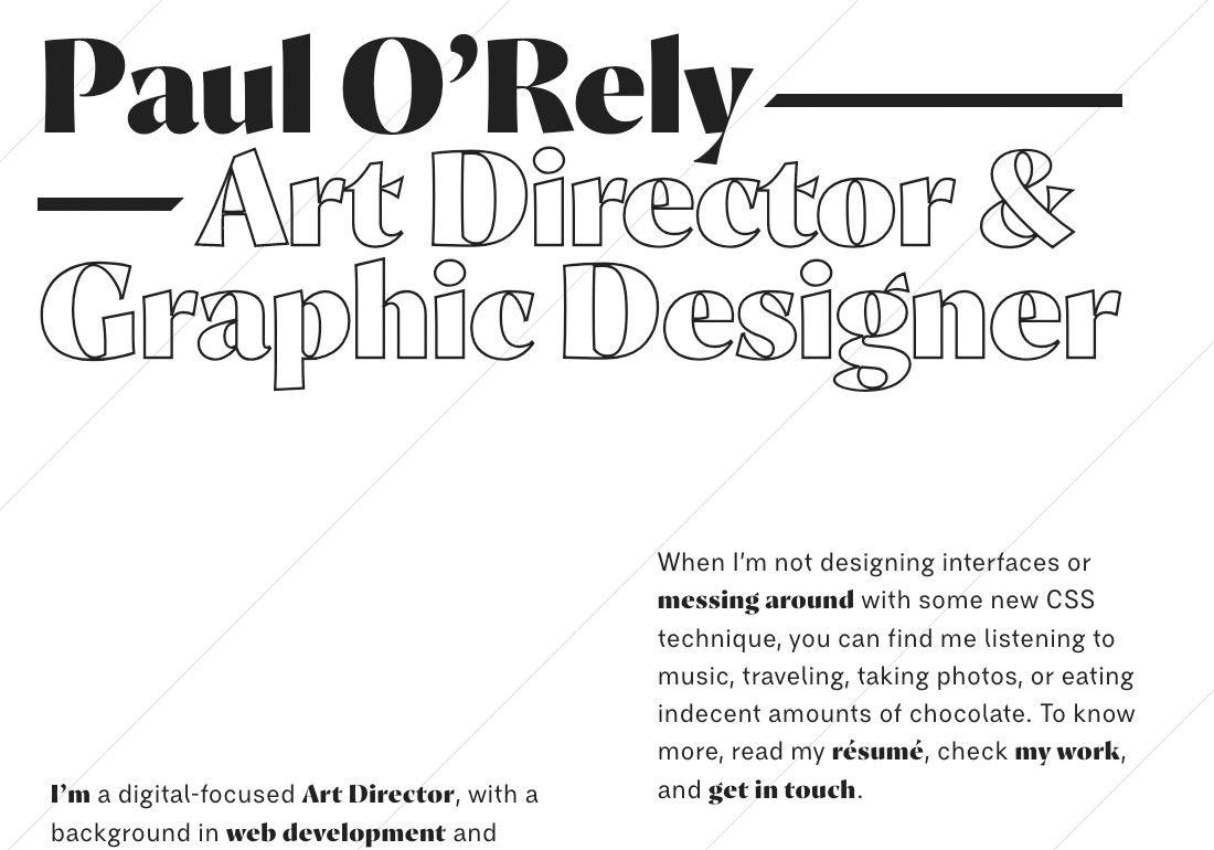 Paul O'Rely // Art Director
