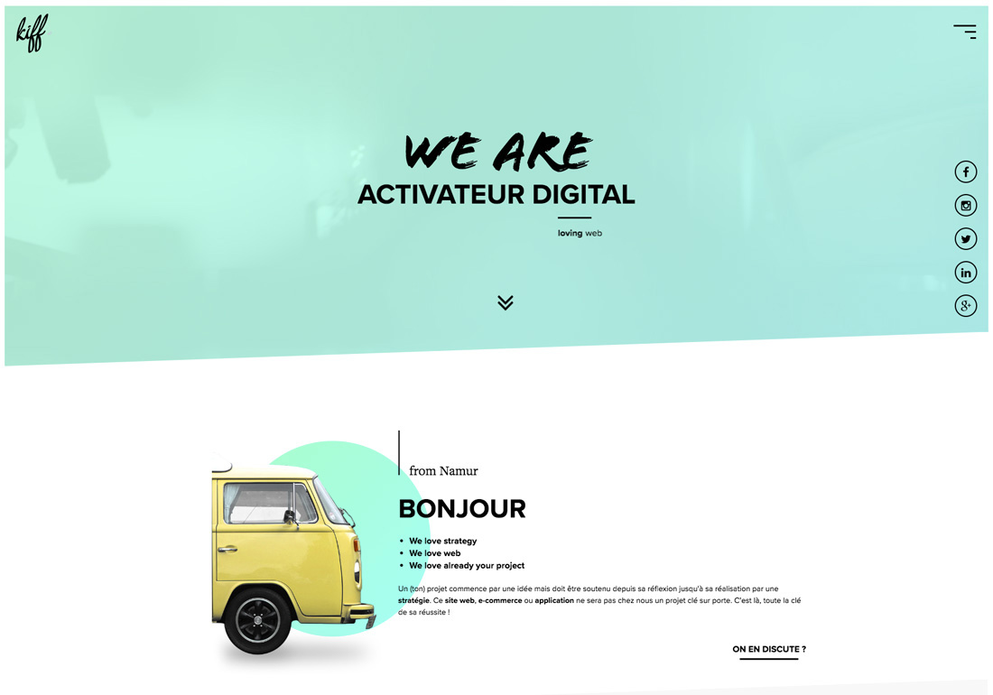 KIFF. Agence web - Namur