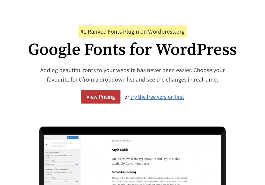 Google Fonts WordPress
