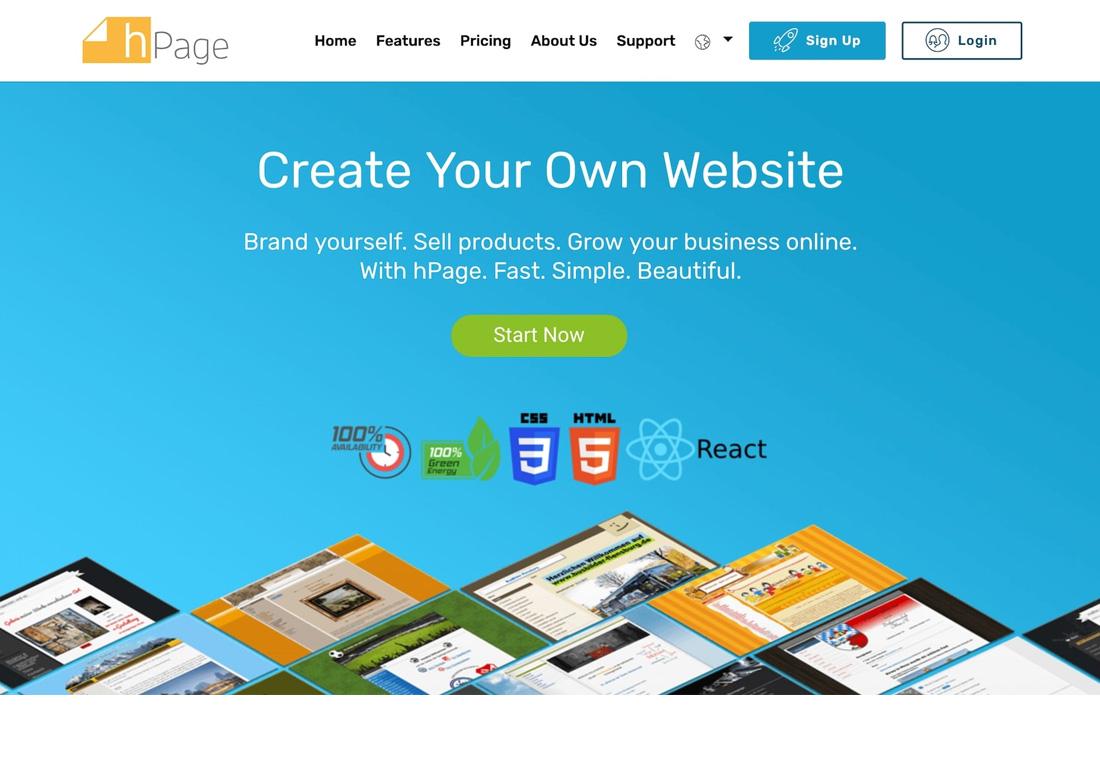 hPage.com - Create a free website