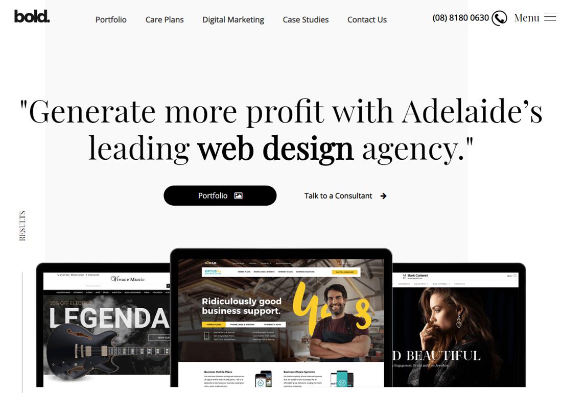 Bold Web Design Adelaide