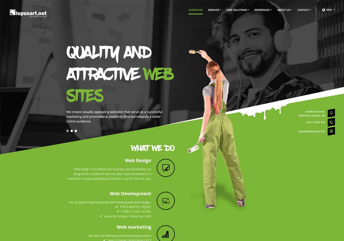 Web design, web development