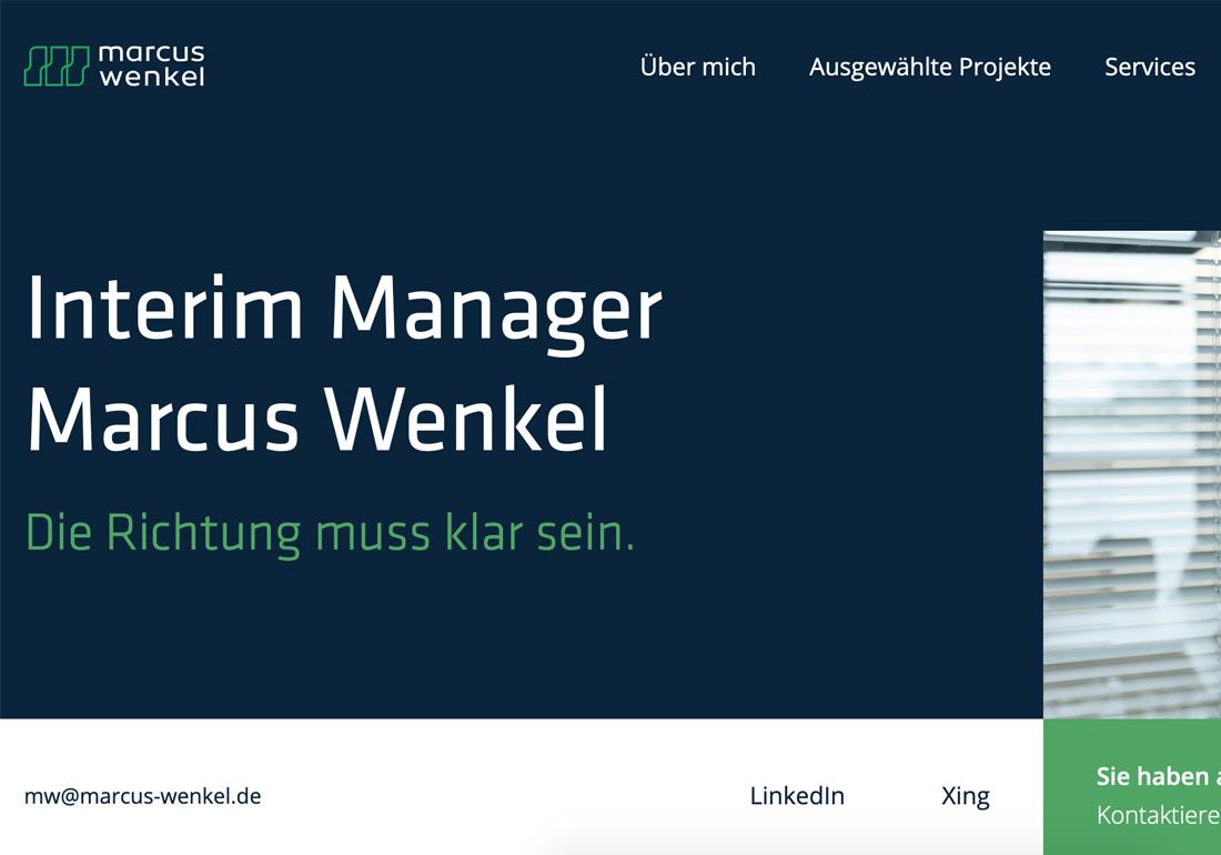 Marcus Wenkel Interim Manager