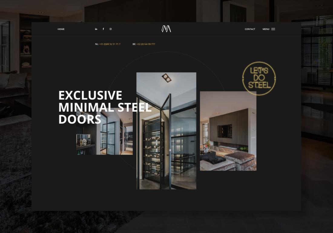 Minimal Steel exclusive steel doors