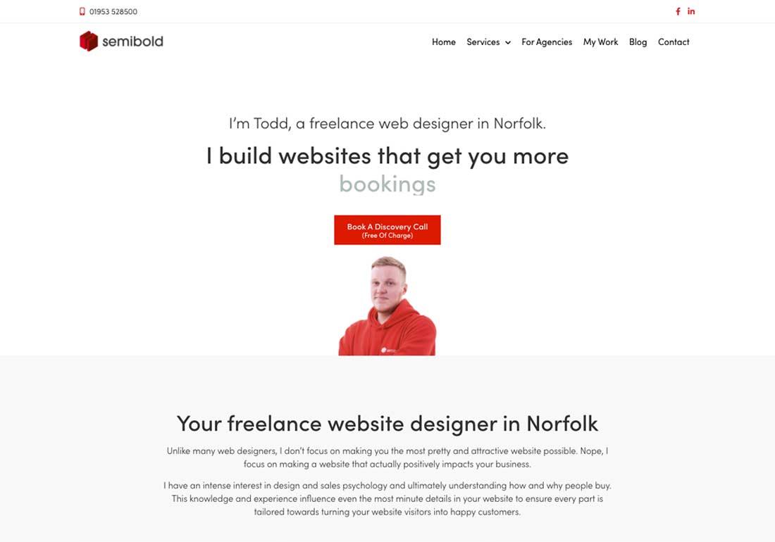 Semibold Freelance Web Designer UK