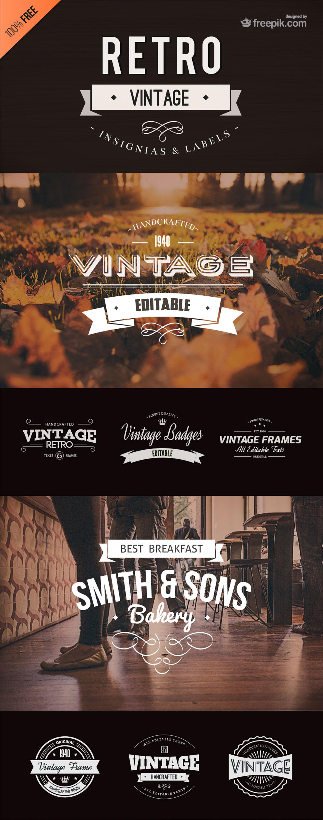 Free Vector vintage