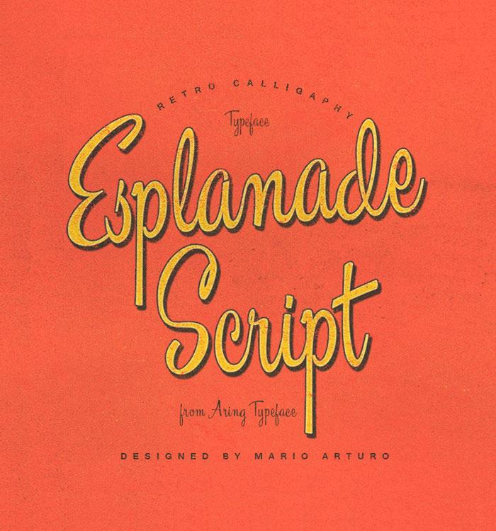 Esplanade Script Font Free Download