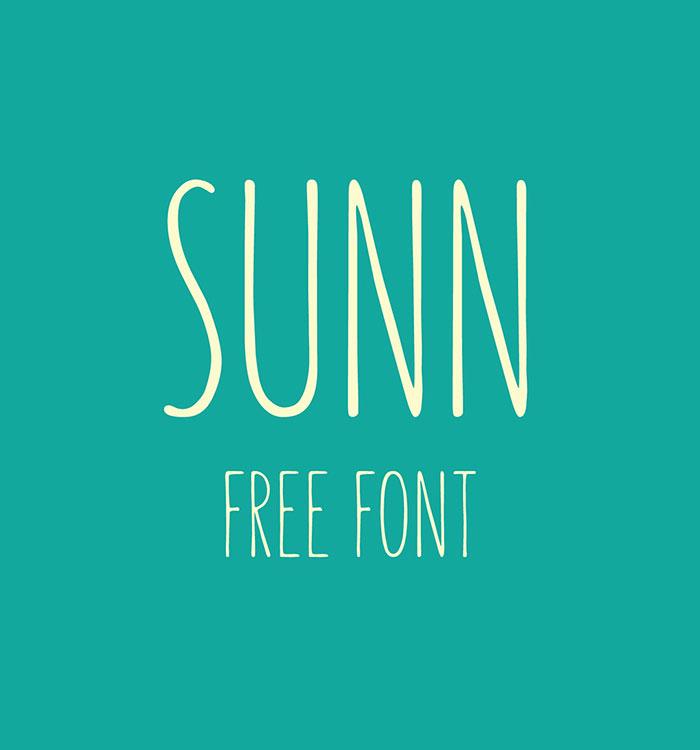 Sunn Free Handwriting Font