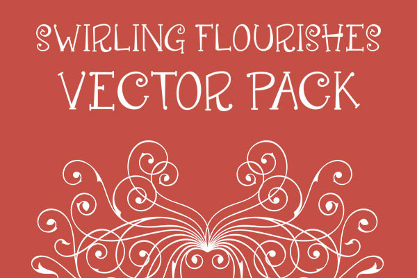 Swirling Flourishes Vector