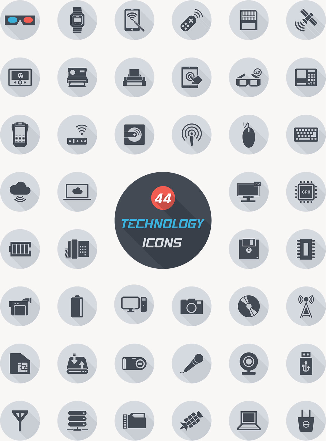 Free Technology Icons Vector