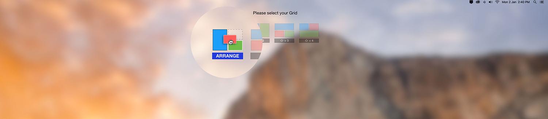 gridsutra custom window arrangement