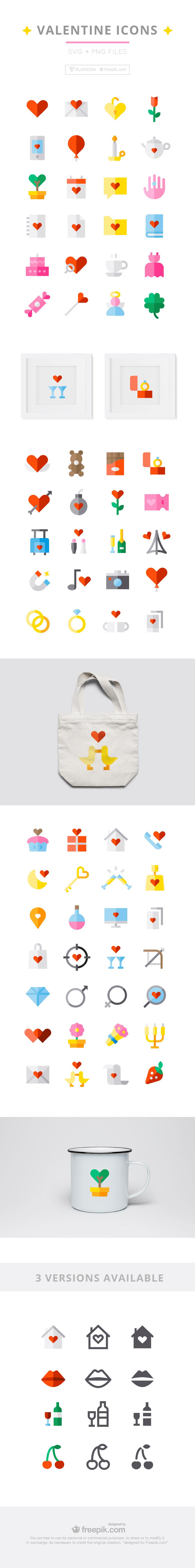 Valentines Day Icons