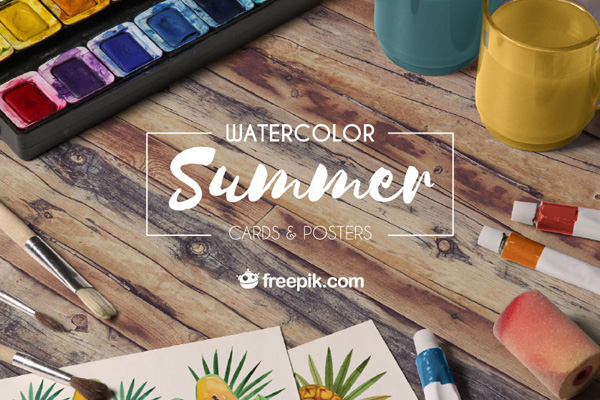 Watercolor Summer Cards & Posters