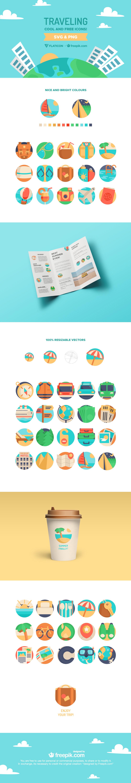 freebie traveling icons download